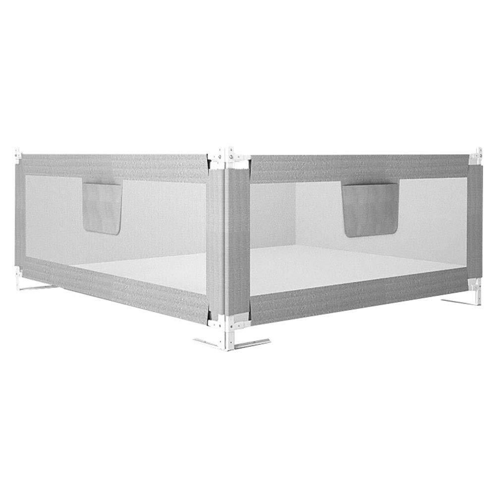 CQILONG ベッドレール両面保護2つの設置方法垂直リフト 生地子供のための、3色 2サイズ (色 : グレイ ぐれい, サイズ さいず : 200x150x68-95cm) 200x150x68-95cm グレイ ぐれい B07SDMP73L