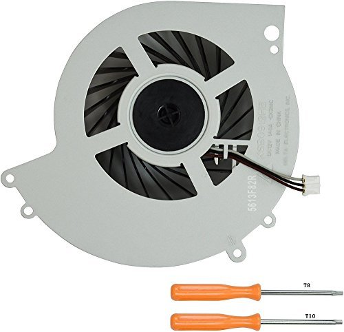 (Rinbers Internal CPU GPU Cooling Cooler Fan Replacement Part for SONY Playstation 4 PS4 CUH-1200 CUH-12XX Series Console 500GB KSB0912HE with Tool Kit)