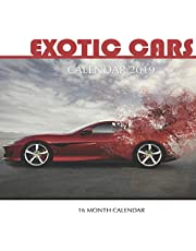 Exotic Cars Calendar 2019: 16 Month Calendar