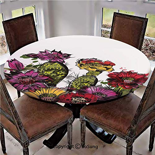 Elastic Edged Polyester Fitted Table Cover,Watercolor for sale  Delivered anywhere in USA