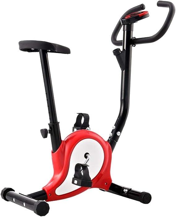 Festnight Bicicleta Estática con Resistencia de Cinta Rojo y Blanco de Metal y Plástico 64 X 41 X 104 Cm, Peso Máximo del Usuario 100 kg: Amazon.es: Hogar