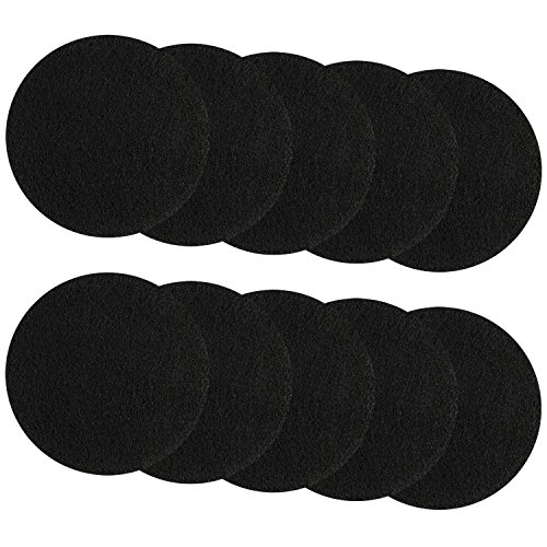 Resinta 10 Pack Kitchen Compost Bin Pail Filters Activated Carbon Filter Refill Replacement Filters, Round (7.25 Inch)