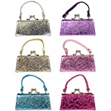 6 Lipstick Cases with Handles Mini Mahjong Coin Purse - Metallic Floral