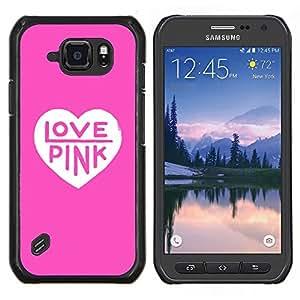 Stuss Case / Funda Carcasa protectora - Texte Coeur Couleur White Rasé - Samsung Galaxy S6Active Active G890A