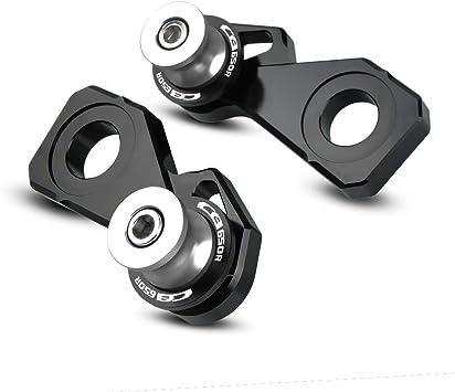 2pcs Montageständer Racingadapter M8 1 5 Bobbins Ständeraufnahme Mit Ketteneinstellblockrahmen Für Honda Cb650r Cb 650 R Silber Auto