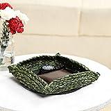 Unravel India Sabai olive charger basket