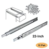 10 draw slide - Gobrico 22 Inch 100 LB Capacity Full Extension Soft/Self Close Ball Bearing Side Mount Drawer Slides Heavy Duty - 10 Pair Pack
