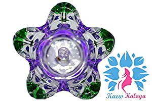 Kaew Kalaya - Luxury Aromatherapy Oils Lamp Electric Fragrance Oil Warmer, Essential Oil Burner with 35 Watt Halogen Bulb and Touch Dimmer Switch for Room Decoration and Relaxation Floral
