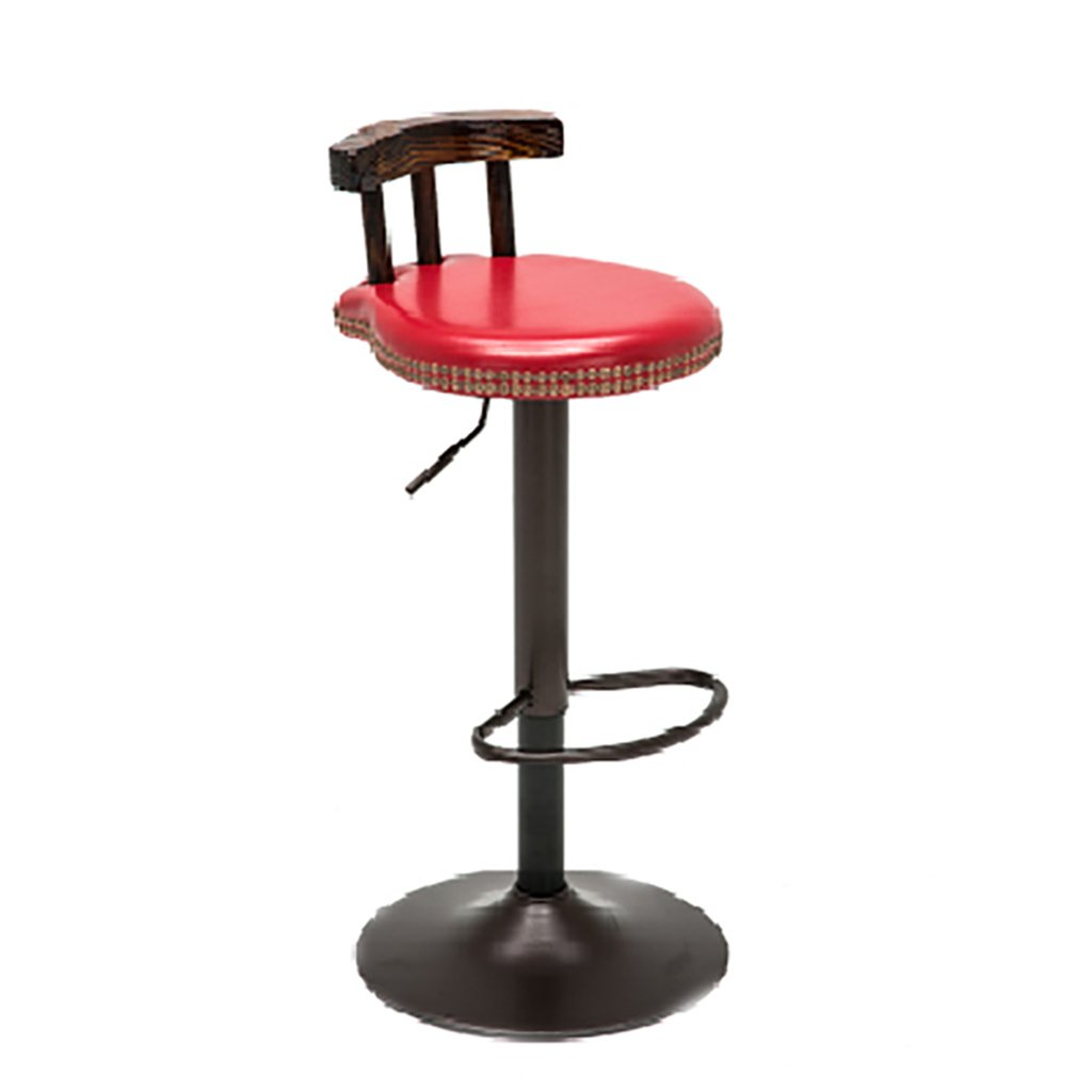 C RFJJ Retro High Stool Home Chair Bar Stool Bar Stool Metal High Chair Front Decoration Stool Lifting Stool redating Lift Stool (color   D)