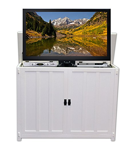 Touchstone 72013 Elevate Mission TV Lift Cabinet For TVs Up To 42 inches, Whisper Lift (White)