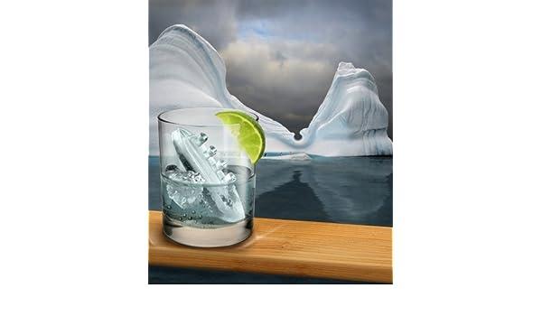 Gin and Titonic Titanic de barco en forma de Iceberg para cubitos ...