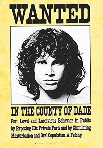 Jim Morrison Doors Wanted large fabric poster / flag 1100mm x 750mm (mm)