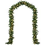 Tannengirlande 5m mit 100 Lichtern - Tannenzweig Girlande grün natur