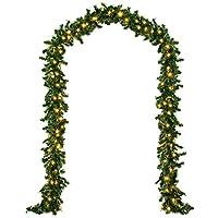 Guirlande lumineuse Sapin Noel intérieur/extérieur - 5m - 100 LED - Guirlande forme branche de sapin
