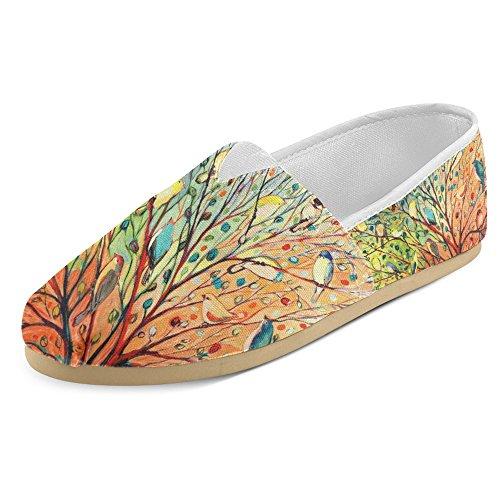 Interestprint Mujeres Loafers Clásico Casual Slip On Zapatos De Moda Sneakers Flats Multi 28