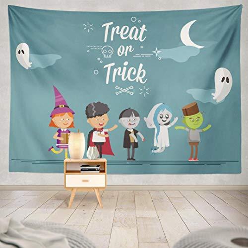 Scary Faerie Costumes - Deronge Halloween Tapestry, Happy Halloween Cute