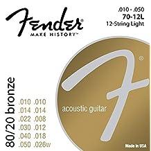 Fender 80/20 Bronze 12-String Acoustic Strings