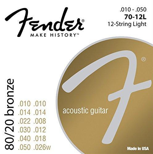 Fender 60L 0730070423 Acoustic Guitar 80/20 - 12 Ball End St