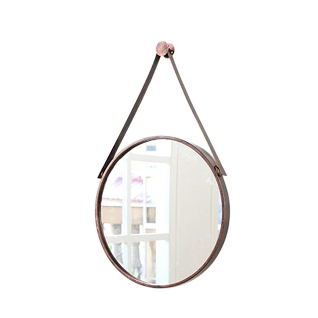 北欧シンプルな壁掛けミラー - バスルームとベッドルームバニティミラー - ラウンドウォールハンギングミラー - ガラス装飾ミラー (色 : 銅, サイズ さいず : 80x80cm) B07L916XBM 銅 40x40cm 40x40cm|銅