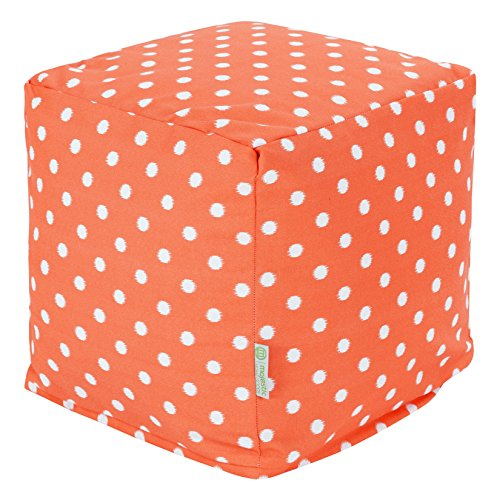 Majestic Home Goods Ikat Dot Cube, Small, Orange
