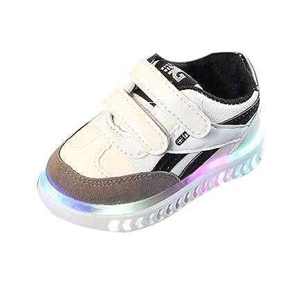 Zapatos Unisex Niños LED Luz Luminosas Flash Zapatos Otoño Invierno 2018 Moda ZARLLE Zapatillas de Deporte