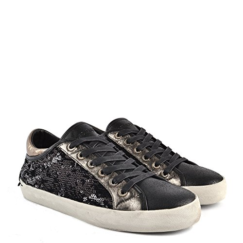 Low Trainer Black Lo Faith Shoes Sequin Crime Black Top London 874pqnxwY