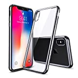 iPhone X Case, iPhone 10 Case, ESR Crystal Transparent Clear Flexible Soft Gel TPU Cover Shell Skin [Support Wireless Charging] [Slim Fit] for Apple 5.8' iPhone X /iPhone 10 (2017 Release)(Space Gray)