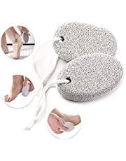 2 Pack Natural Pumice Stone for Feet, Lava Pedicure Tools Hard Skin Callus Remover for Foot and Hand, Foot File Exfoliation to Remove Dead Skin
