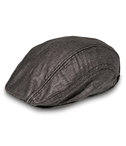 Sean John Mens 5-Panel Newsboy Hat Black L/XL