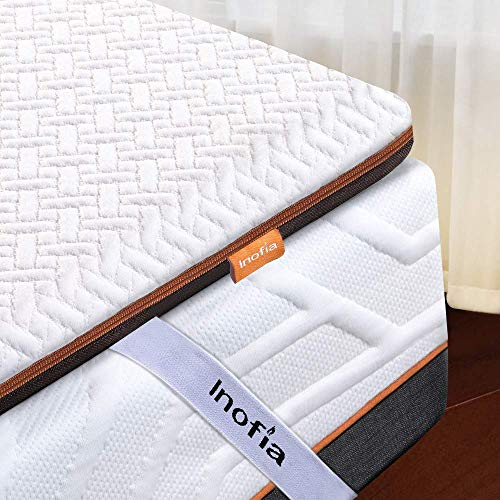 Inofia King Mattress Topper,3Inch Naturbrown Memory Foam Portable Mattress Topper with Removable Cover and Storage Bag, Transform Old Mattress by Adding Dual Layer (King)
