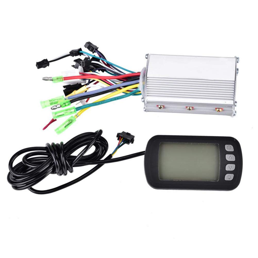 Shentesel Electric Bicycle Controller Scooter E-Bike Brushless Motor LCD Panel - 24V