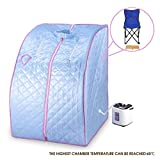New MTN-G 2L Home Steam Sauna Spa Full Body Portable Slimming Loss Weight Detox Therapy Blue