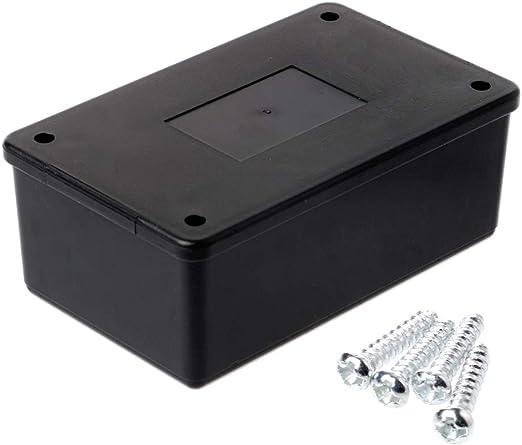 JOYKK Caja de Proyecto de Caja de Proyecto de Caja Electrónica de Plástico ABS ABS Impermeable Negro: Amazon.es: Hogar
