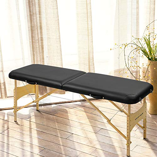 73″L Pro Fold Portable Massage Table Facial SPA Bed Tattoo w/Carry Bag Black