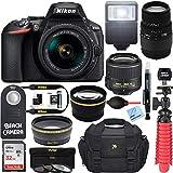 Nikon D5600 24.2 MP DSLR Camera AF-P DX 18-55mm and 70-300mm NIKKOR Zoom Lens Kit and Accessory Bundle
