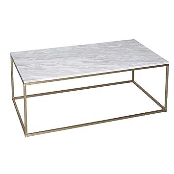 nouveau concept 0bf4a 7c677 Gillmore Space Table contemporaine rectangulaire en métal Or ...