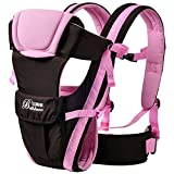 2016 Updated 0-30 Months Multifunction Front Facing Baby Carrier Infant Sling Backpack Pouch Wrap Baby Kangaroo With Waist Belt (Pink Color)