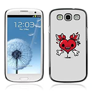 Designer Depo Hard Protection Case for Samsung Galaxy S3 / Heart