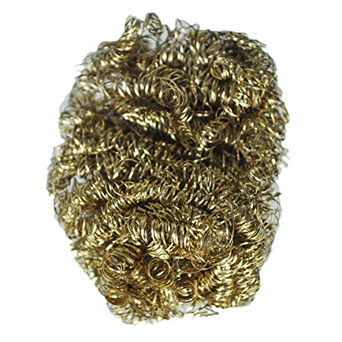 (Wire Wool - 8cm Diameter Copper Spiral Scourer Cleaning Ball - Earrings Wind Wire Tube Dangling Feeder Scourers Spiral Thistle Gold Copper Bird Clean Ring)