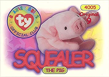 e9e4593be6e Image Unavailable. Image not available for. Color  TY Beanie Babies BBOC  Card - Series 1 Original 9 ...
