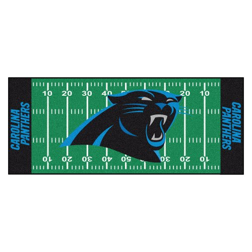 Face Panther (Fanmats NFL Carolina Panthers Nylon Face Football Field Runner)