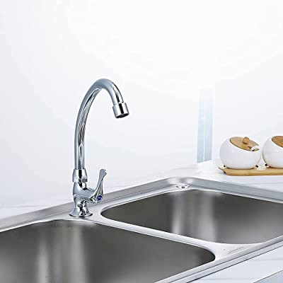 Buy Jomoo Cold Water Wet Bar Sink Faucet Single Handle Single Hole Brass Chrome Outdoor Rv Kitchen Sink Faucet Commercial Style Modern Utility Faucet Drinking Water Deck Mount Round Handle Online In