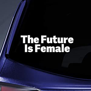 "Bargain Max Decals The Future is Female Sticker Decal Notebook Car Laptop 5.5"" (White)"