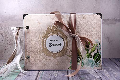 Unique Succulent Theme Photo Album Wedding Gift ()