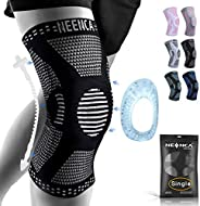 NEENCA Professional Knee Brace,Knee Compression Sleeve Support for Men Women with Patella Gel Pads & Side