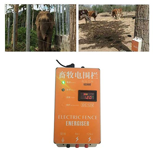 Pengxuehuang 10KM Alarm Electric Fence Energizer Charger Waterproof Anti-dust Animals Electric Fencing Controller for Farm