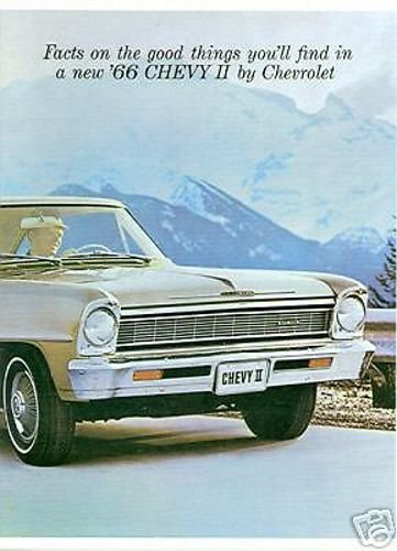 A MUST FOR OWNERS & RESTORERS - A 1966 CHEVY II & NOVA DEALERSHIP COLOR SALES BROCHURE - ADVERTISMENT FOR Custom, SS, Super Sport, Coupe, Sedan. - CHEVEROLET 66 (66 Chevy 2 Nova Ss For Sale)