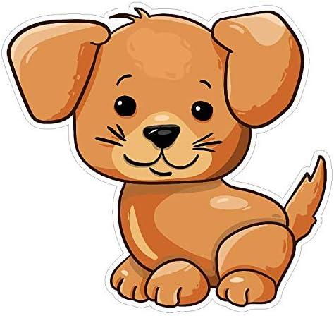 Amazon Com Cute Puppy Cartoon Decal Sticker Custom Die Cut Vinyl Animal Artistic Dog Pup Automotive