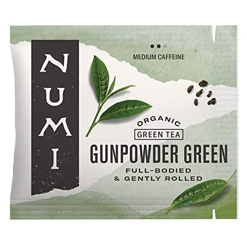 Numi Organic Tea Gunpowder Green, 100 Count Box of Tea Bags (Packaging May Vary)
