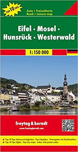 Road Map Of Germany 2017.Eifel Moselle Hunsruck Westerwald Germany Road And Leisure